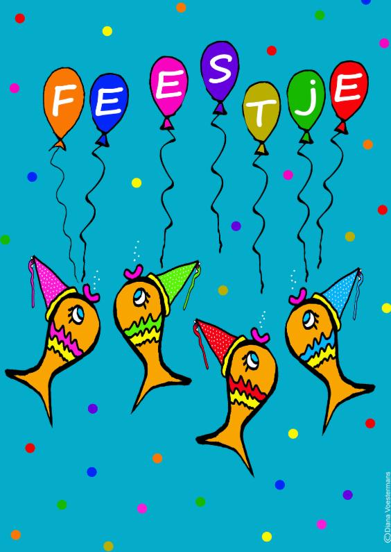 Feestje vrolijke visjes 1