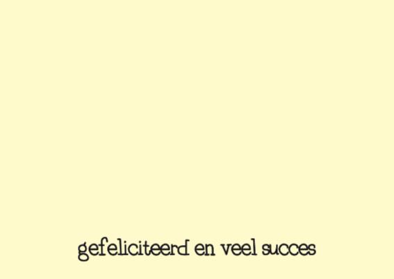 Felicitatie Baan Bellen 2