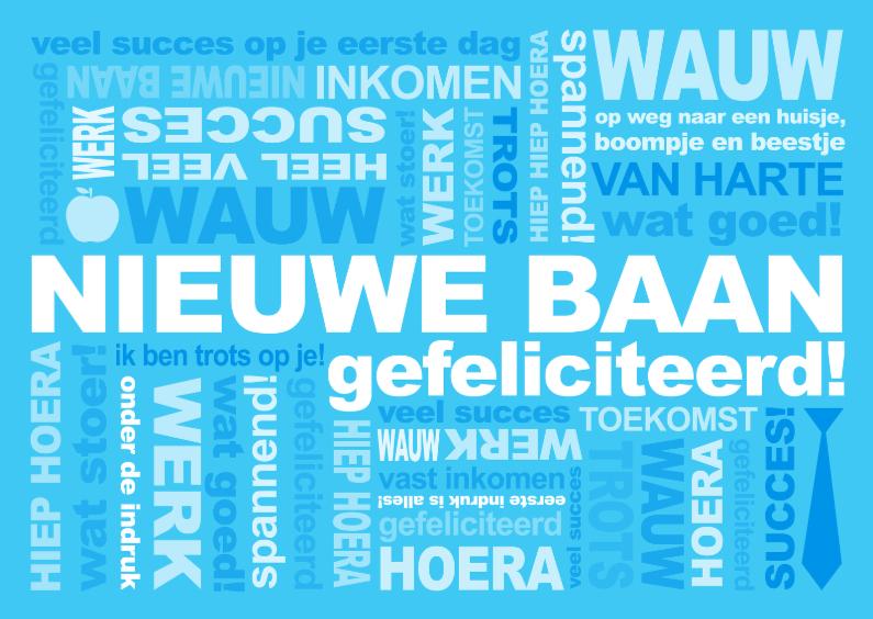 Felicitatie Baan Tekst Blauw 1