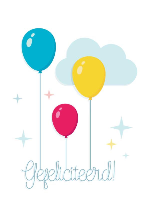 Felicitatie Ballonnen Vrolijk 1