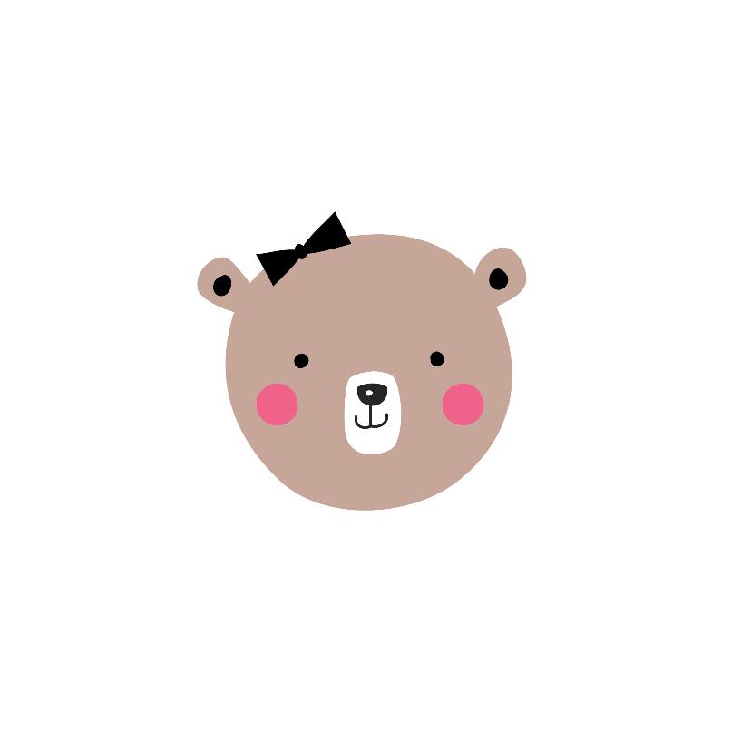 Felicitatie beer lichtroze LB 2