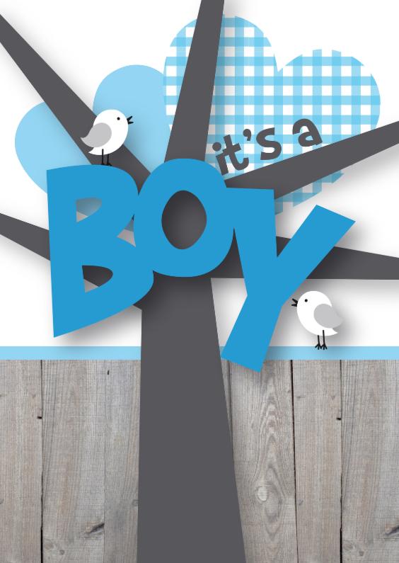 Felicitatie boy happy birds 1