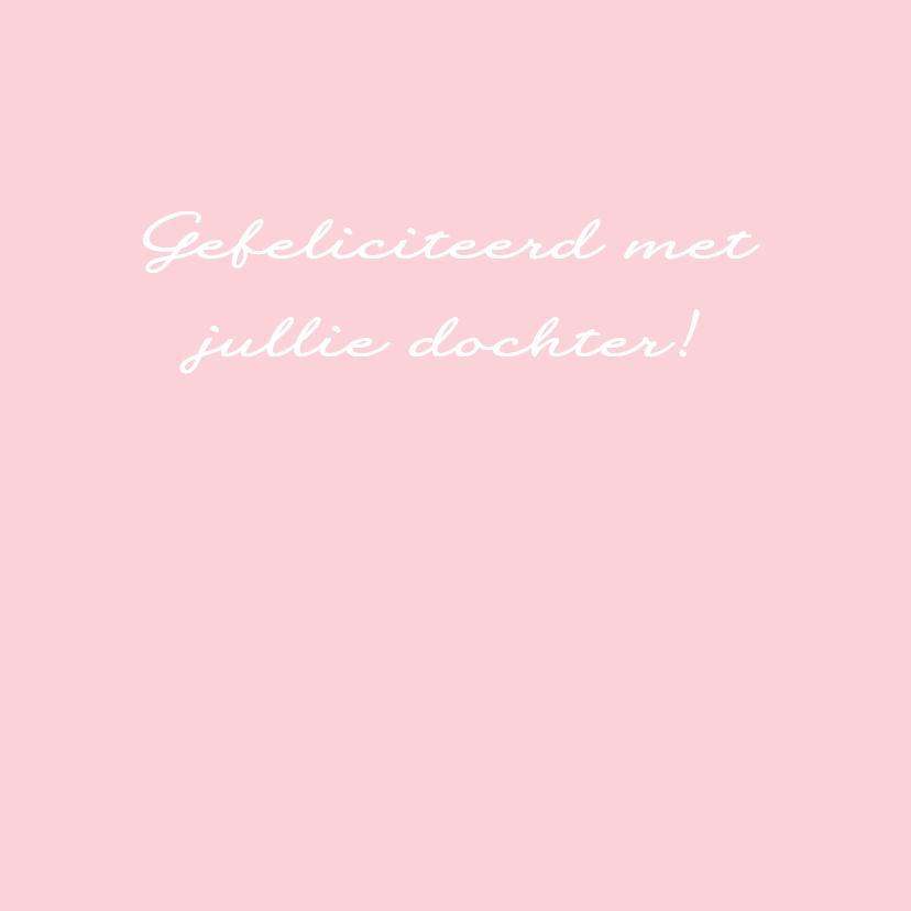 Felicitatie-Driehoek, vlag, roze 3