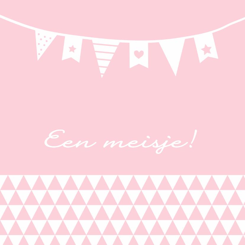 Felicitatie-Driehoek, vlag, roze 1