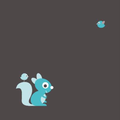 Felicitatie eekhoorn blauw 2