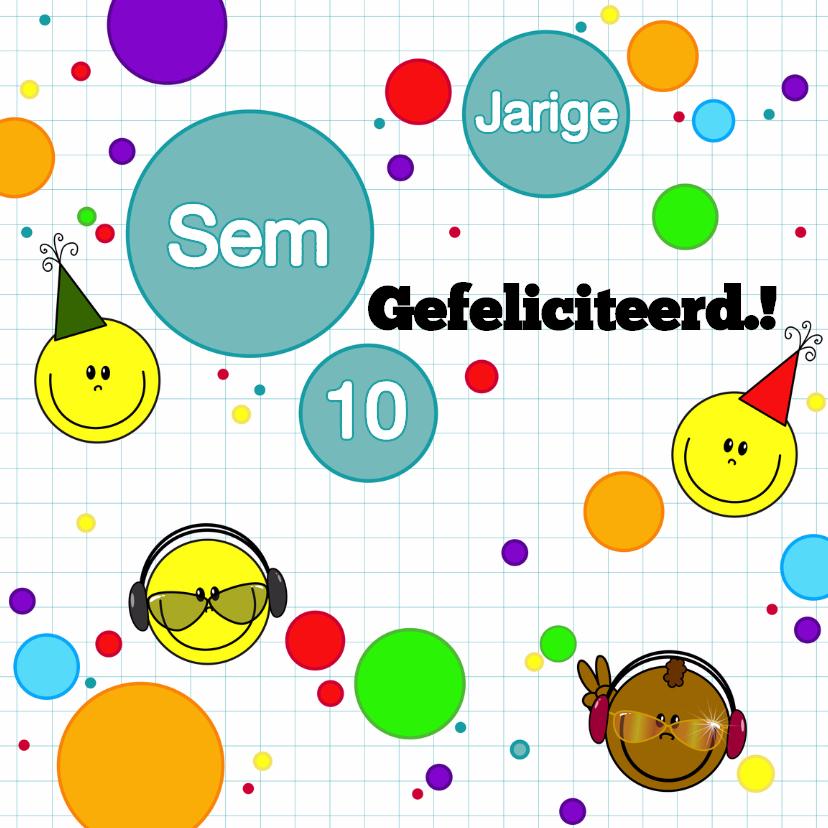 felicitatie game smiley jongen 1
