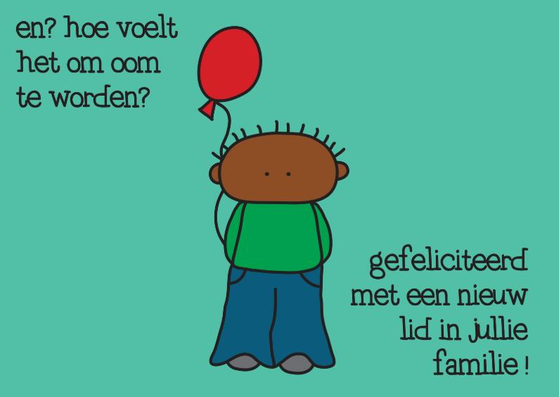 Felicitatie Geboorte Ballon 1