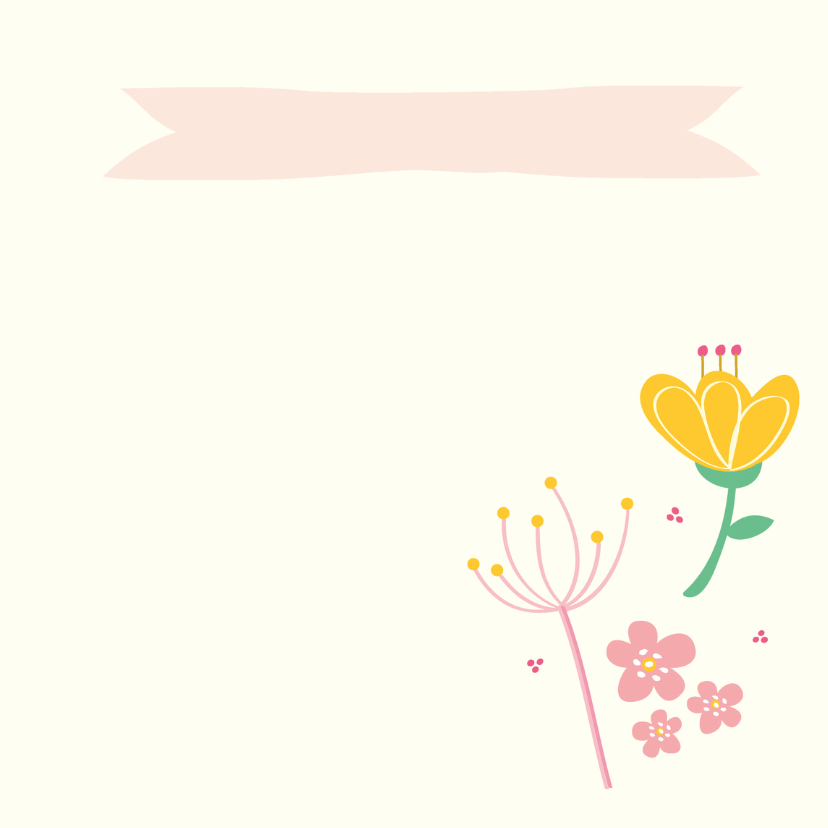 Felicitatie geboorte bloemen 3