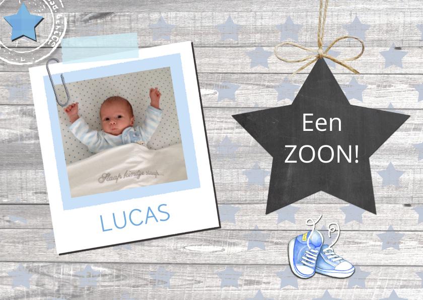 felicitatie geboorte jongen ster 1