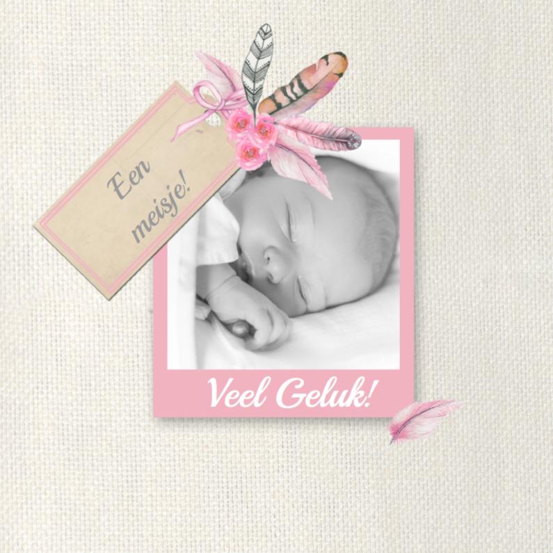 Felicitatie geboorte veertjes 1