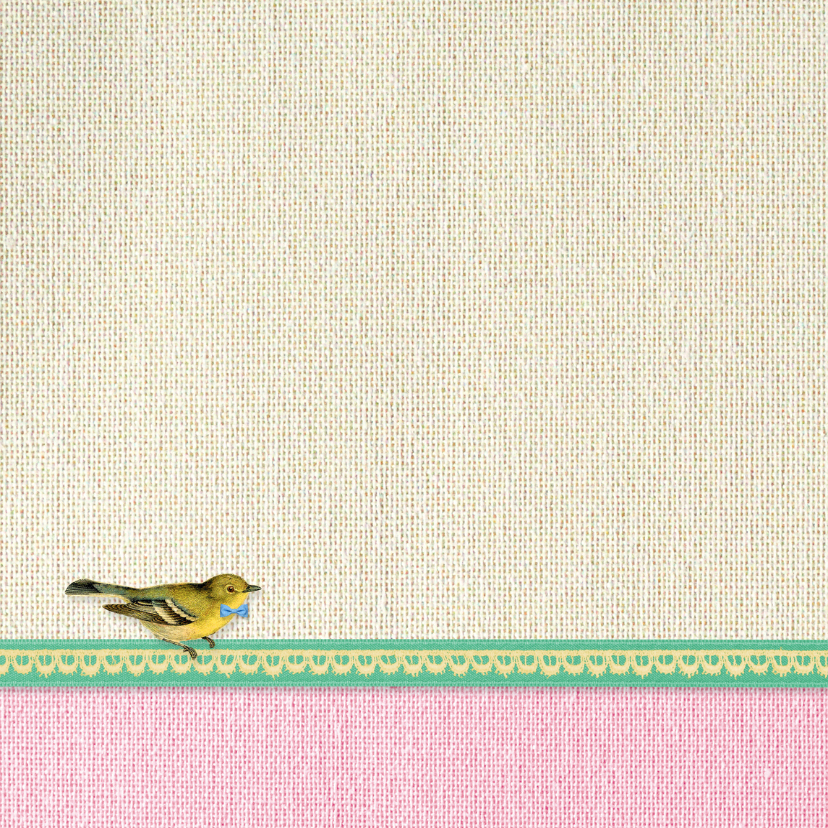 Felicitatie geboorte vogeltje 2