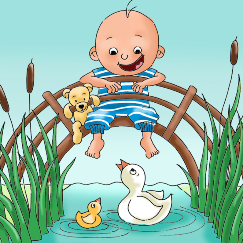 Felicitatie geboorte zoon brug 1