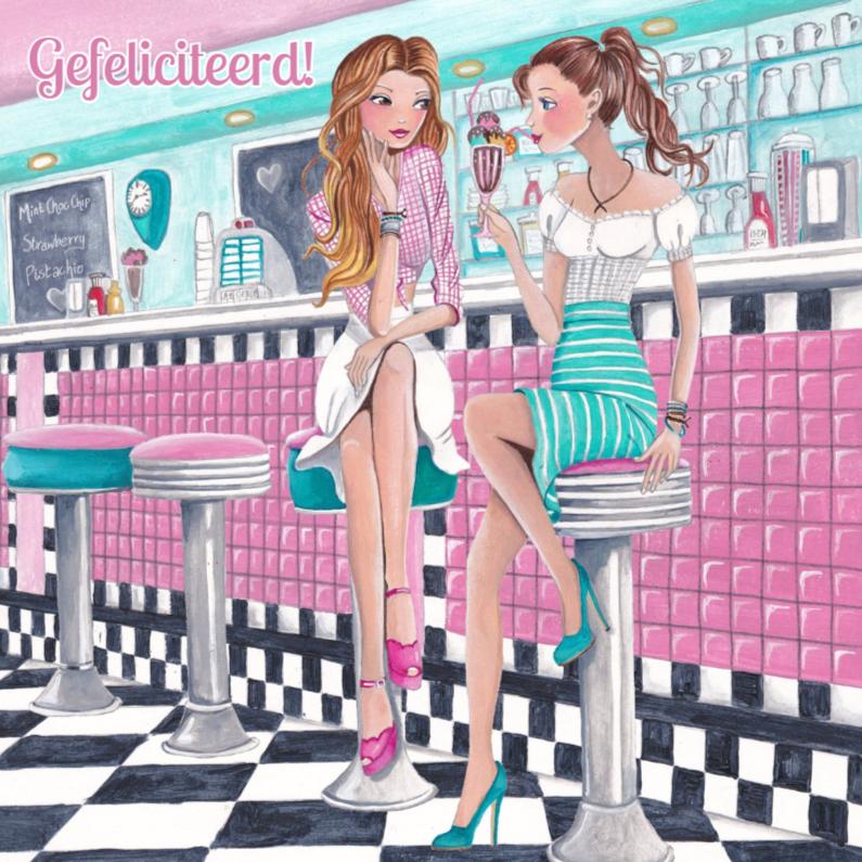 Felicitatie Girls Diner ijs 1