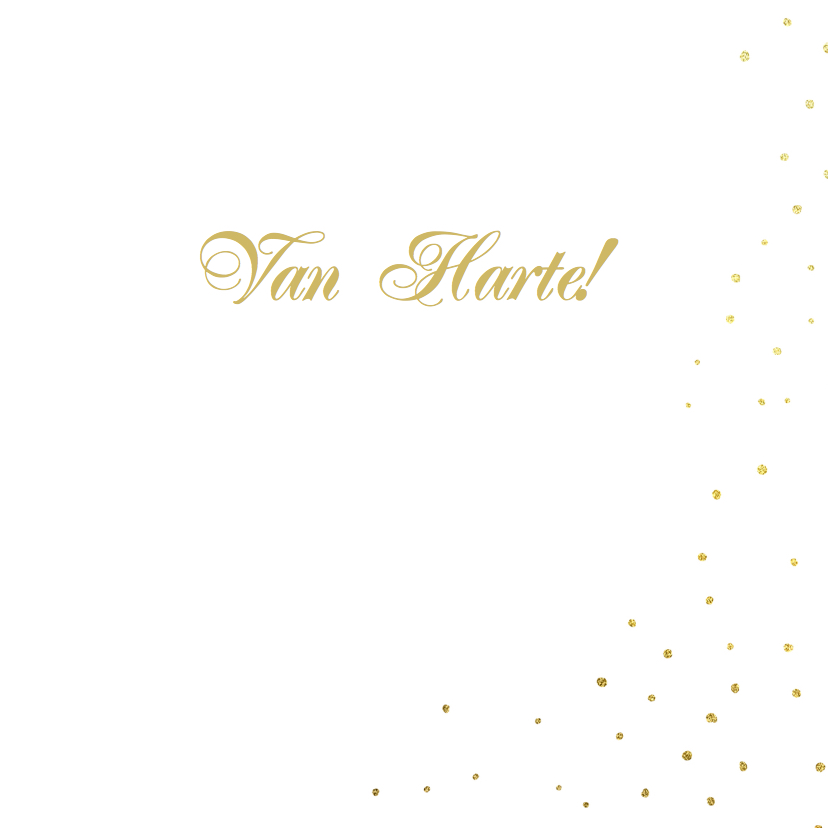 Felicitatie goud hart 3