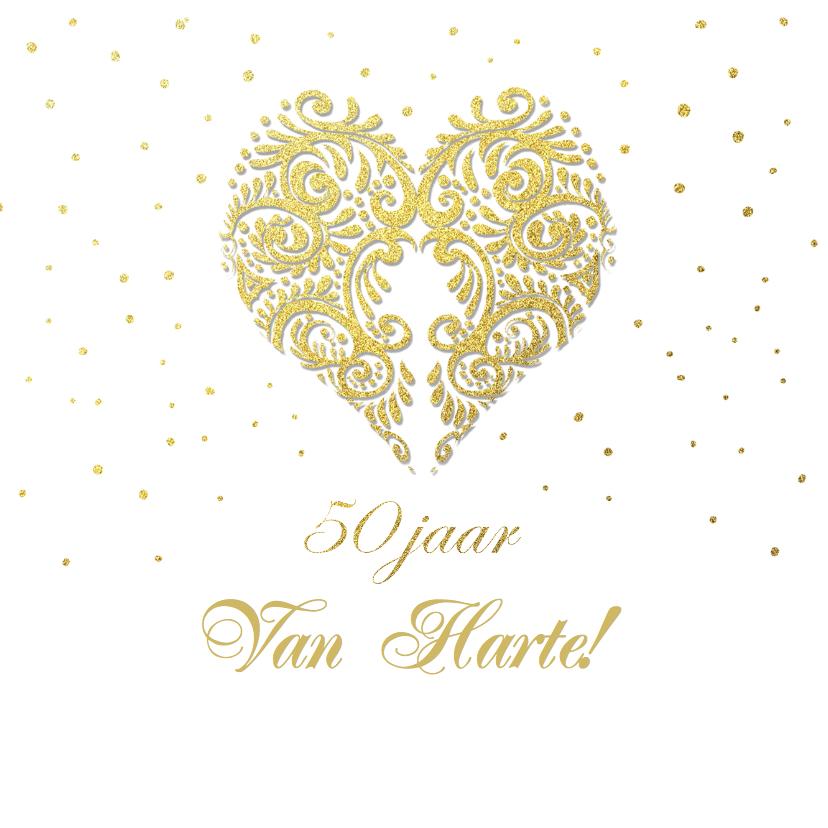 Felicitatie goud hart 1