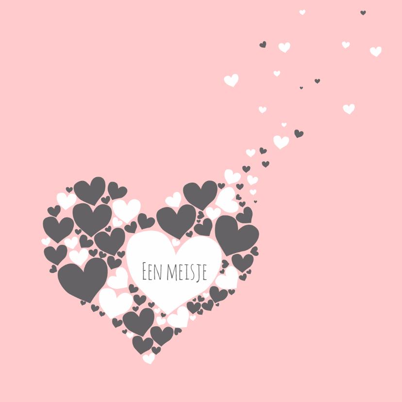 Felicitatie - Harten hart meisje 1