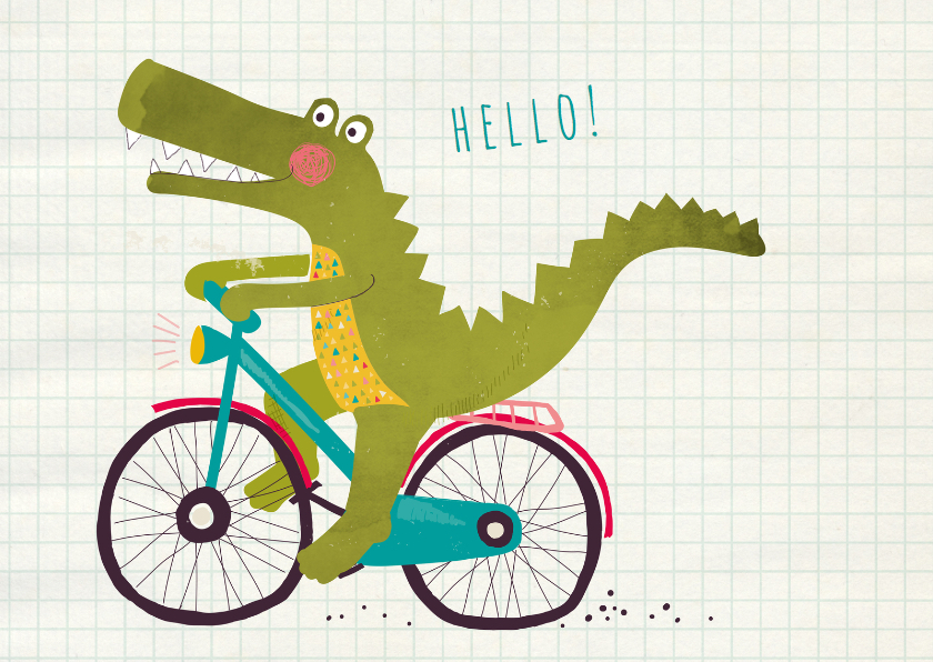 Felicitatie hello alligator 1