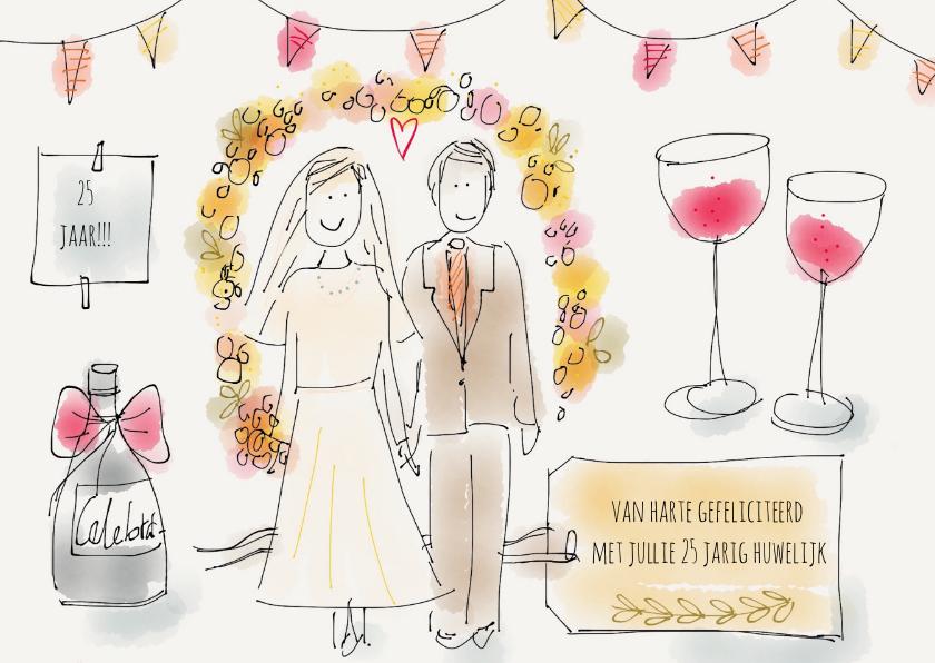 Felicitatie Huwelijk Illustratie 1