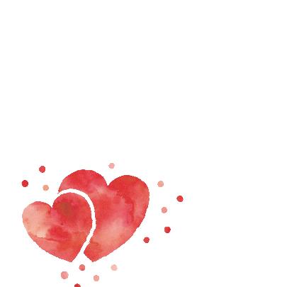 Felicitatie huwelijk rood hart 2