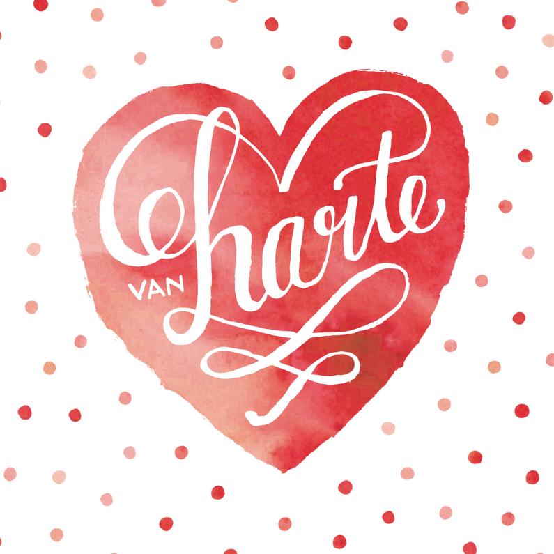 Felicitatie huwelijk rood hart 1