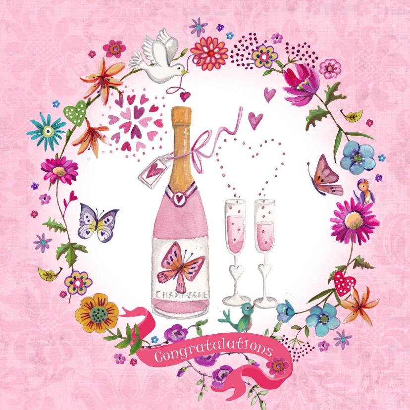 Felicitatie Huwelijksjubileum Champagne 1