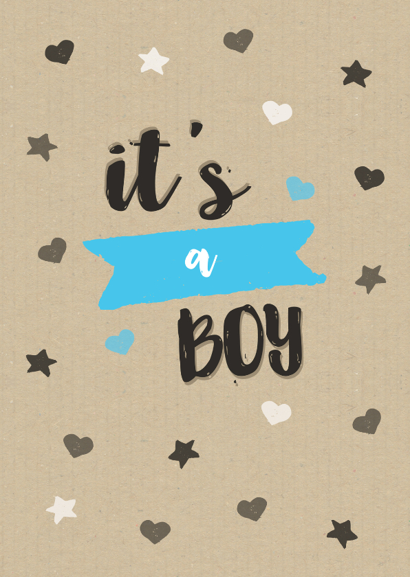 Felicitatie jongen kraft sterren 1