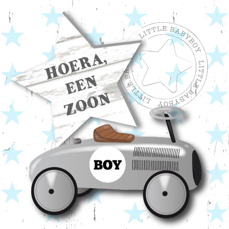 Felicitatie jongen loopauto 1
