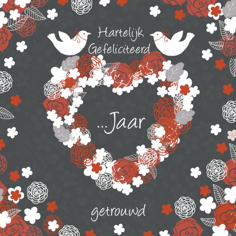 felicitatie jubileum hart en duifjes 1