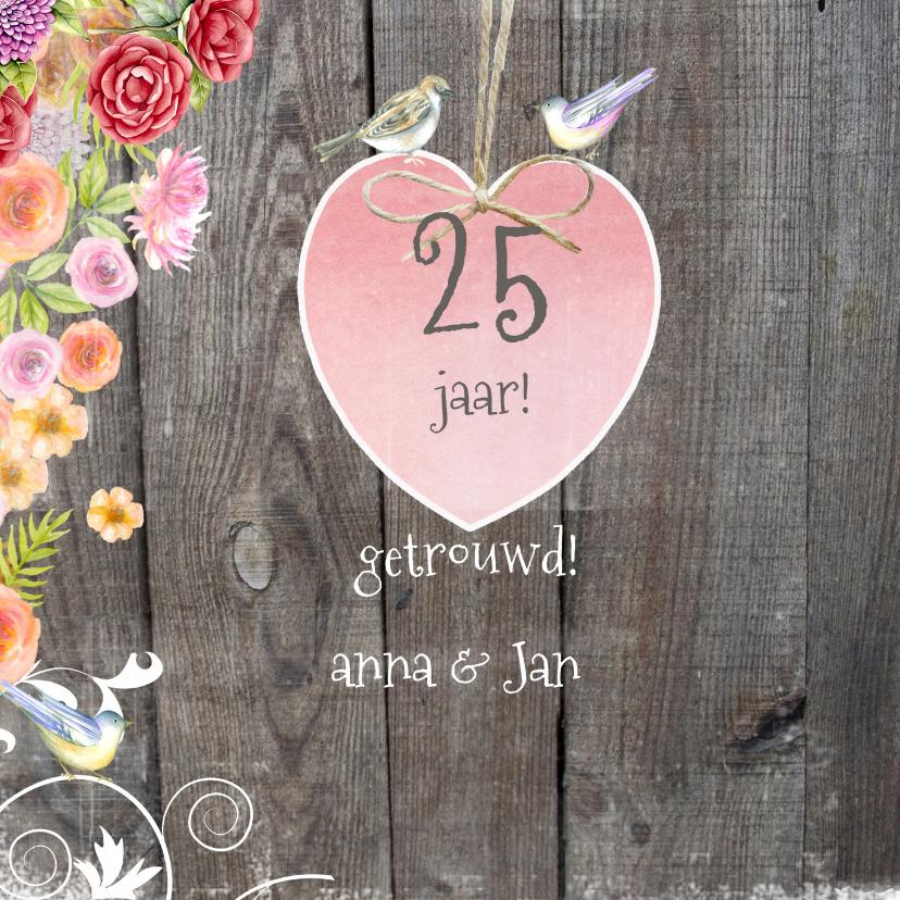 felicitatie jubileum vogels hout 2