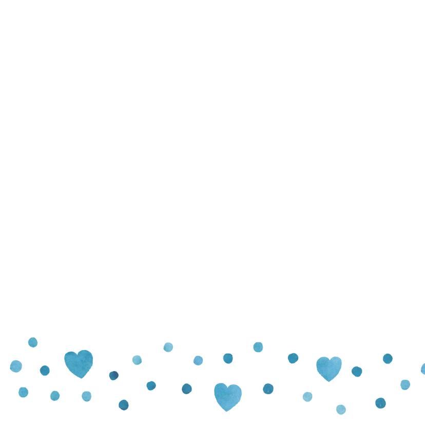 Felicitatie kleinzoon blauw hart 2