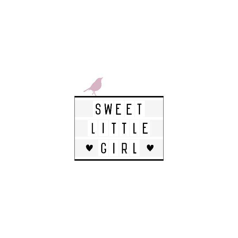 Felicitatie-Lightbox,girl, vogel 2