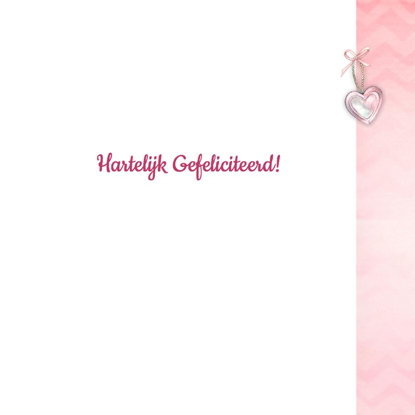 Felicitatie meisje hart chevron 3