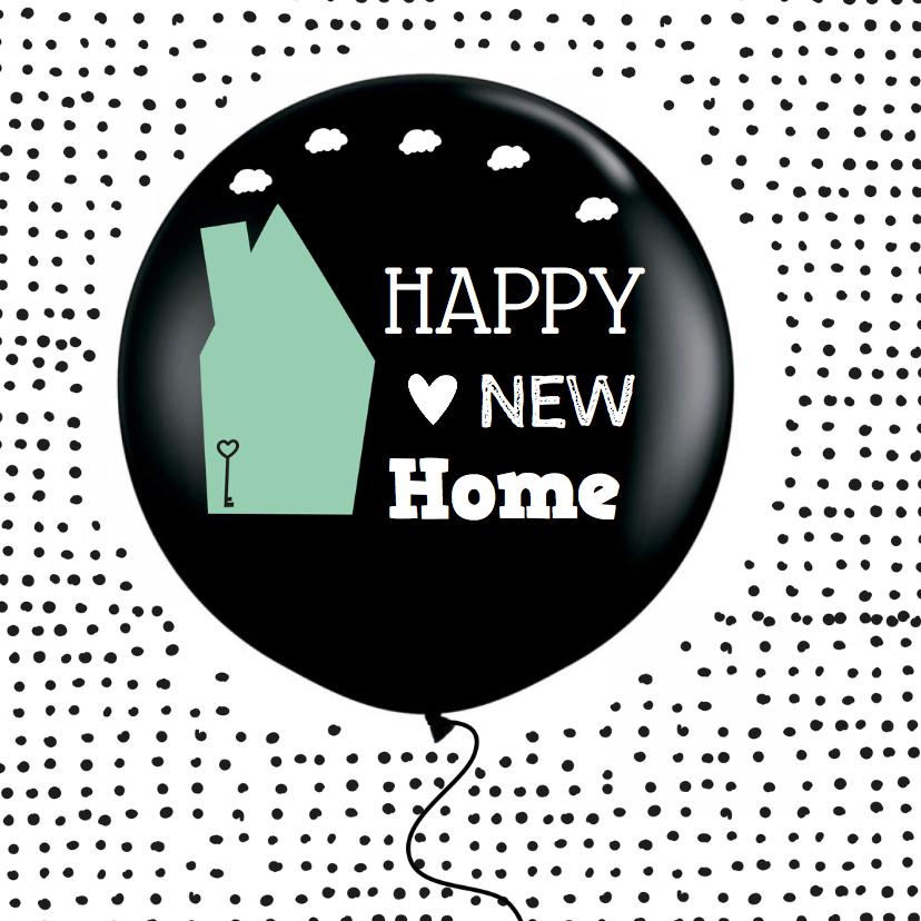 Felicitatie Nieuwe woning ballon 1