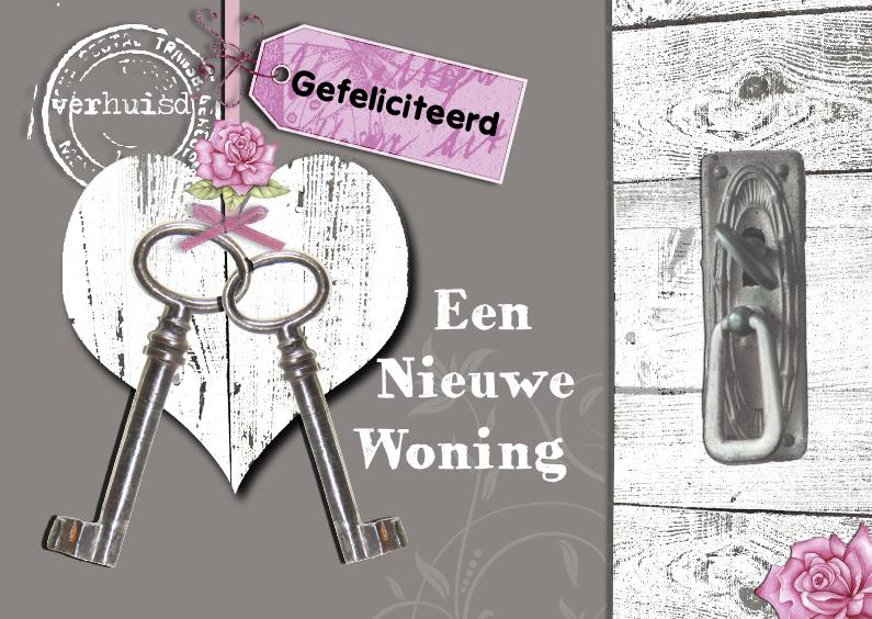 Felicitatie nieuwe woning met hart felicitatiekaarten for Nieuwe woning wensen
