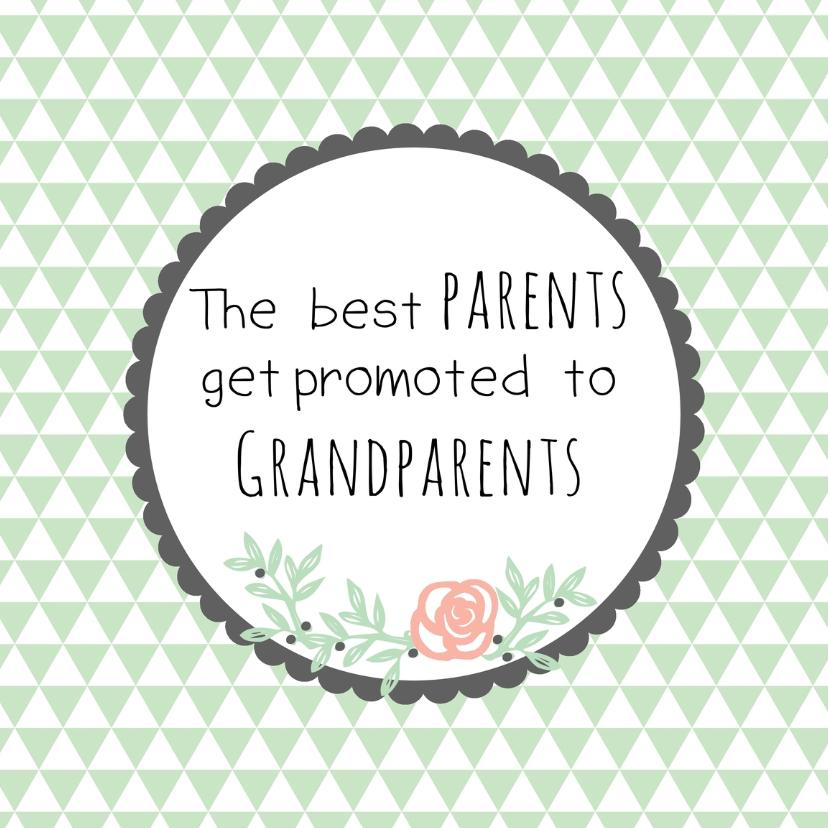 Felicitatie Opa & Oma worden -WW 1