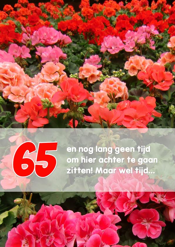 Felicitatie pensioen geraniums 1