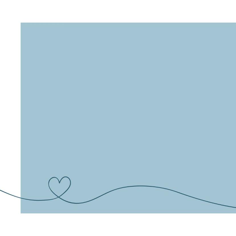 Felicitatie - Simpe hart blauw 2