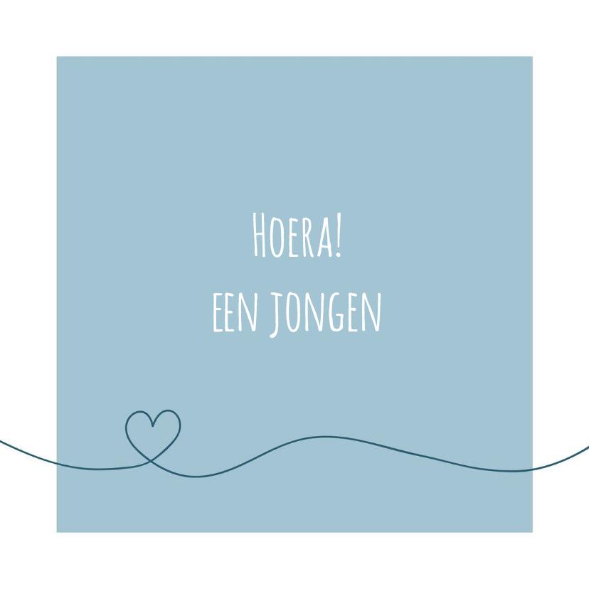 Felicitatie - Simpe hart blauw 1