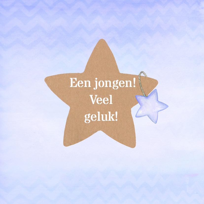 Felicitatie ster jongen 1