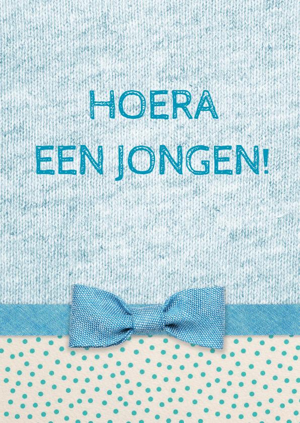 Felicitatie strik geboorte blauw 1