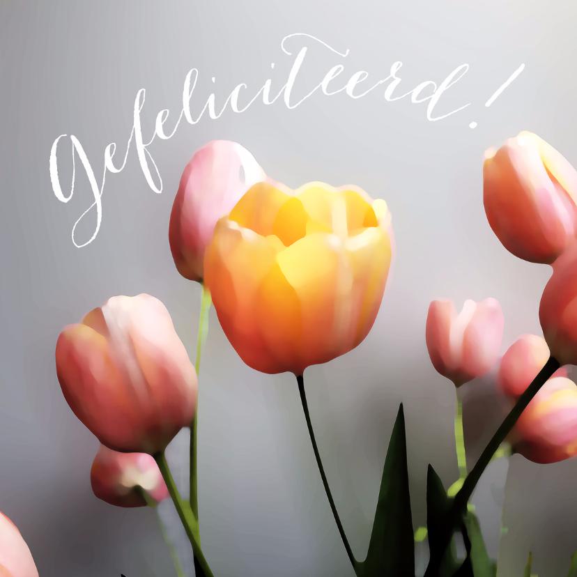 Felicitatie tulpen schilderstijl 1