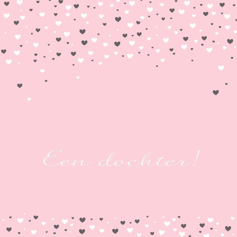 Felicitatie - Veel hartjes, roze 1