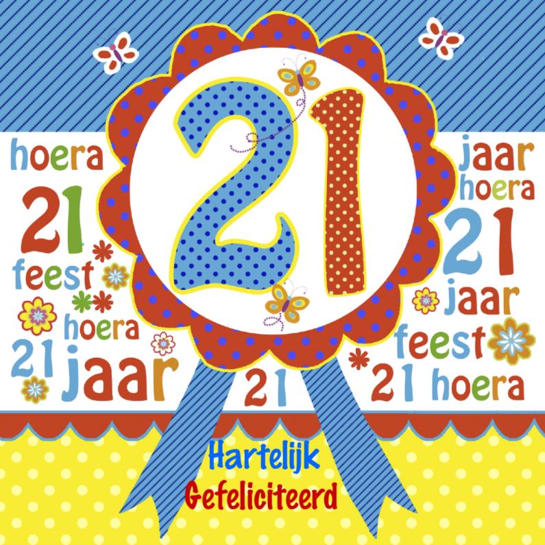 Felicitatie verjaardag rozet 1