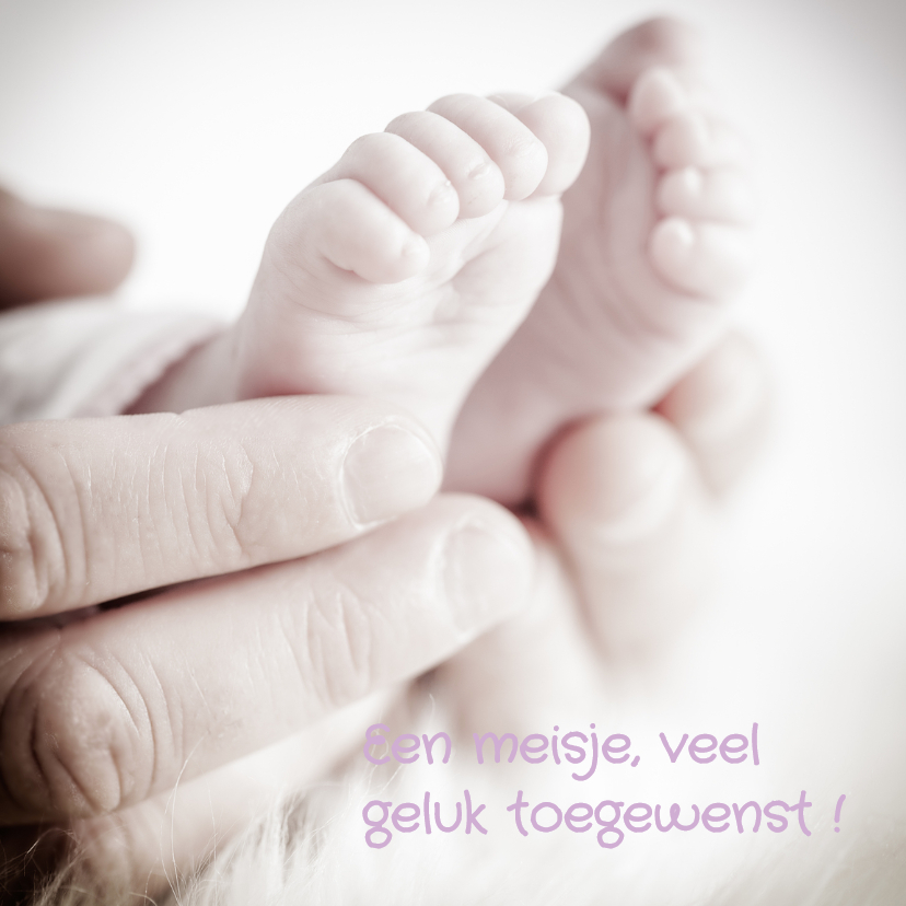 Felicitatie  voetjes  lief - MM 1