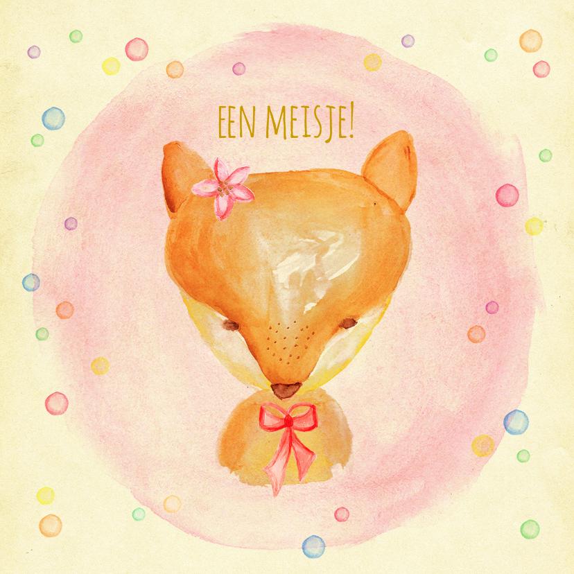 Felicitatie vosje geboorte 1