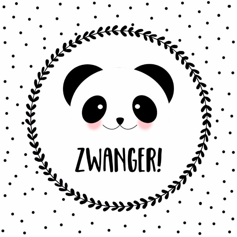 Felicitatie Zwanger Panda - WW 1