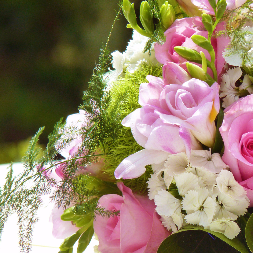 Felicitatiekaart bruidsboeket 1