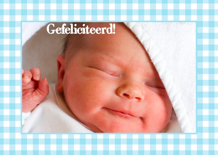 Felicitatiekaart Foto Geboren Blauw 1