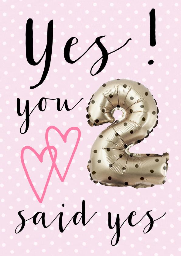 Felicitatiekaart getrouwd YES 1