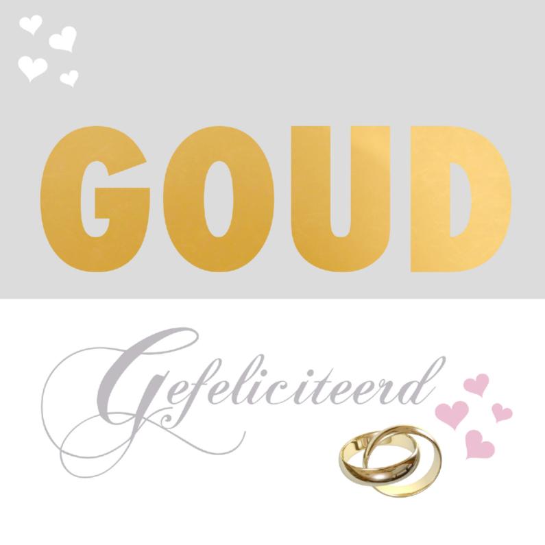 Felicitatiekaart gouden huwelijk felicitatiekaarten